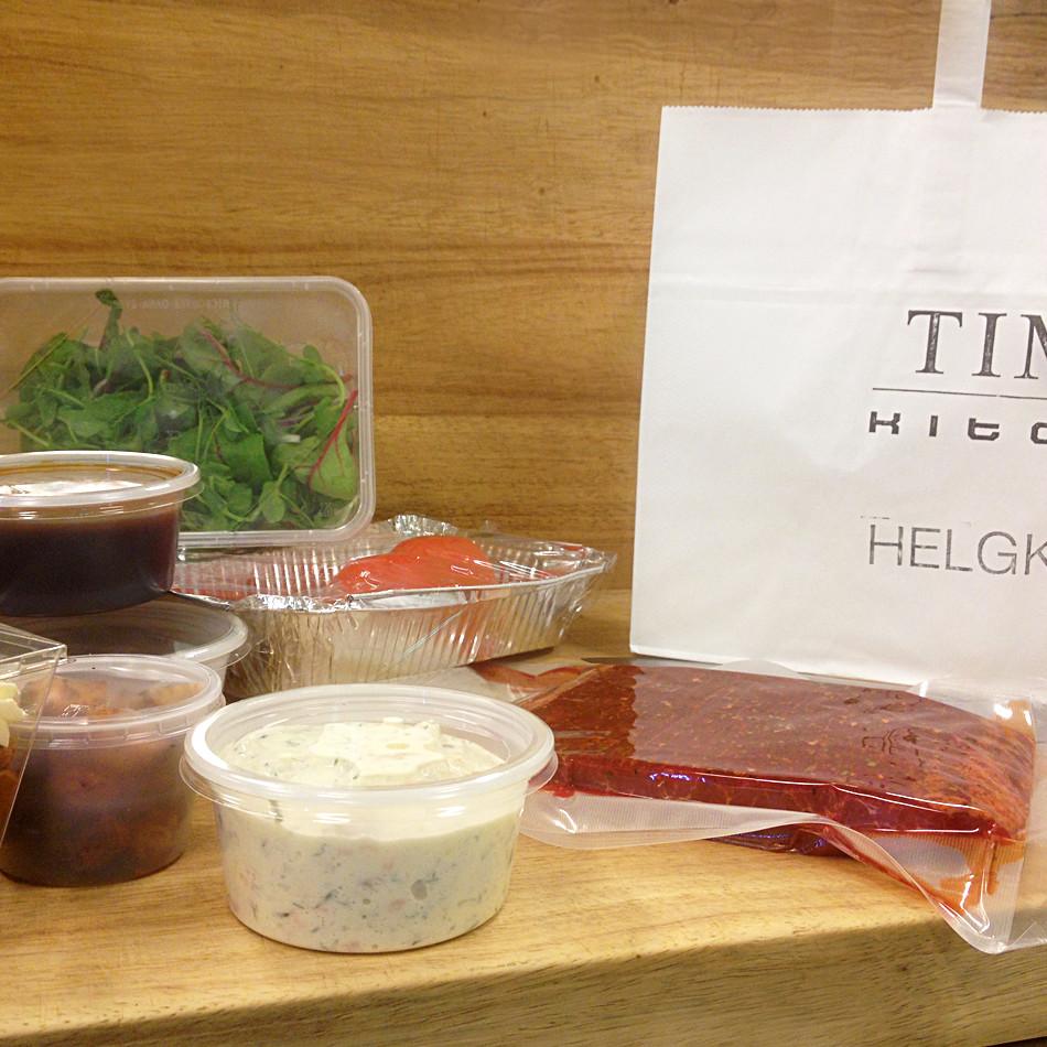 """Helgkassen från Times Kitchen - för er som verkligen vill """"ta helg""""."""